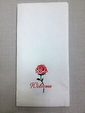 "300-Pack Rose Hand Towels Soft Napkins Linen Paper Guest Towel 17"" Customized"