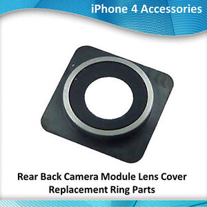 iPhone 4 Rear Back Camera Module Lens Cover Replacement Ring Parts