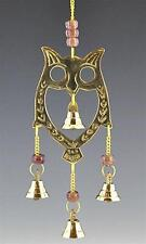 "10"" Wise Owl Brass Wind Chime!"