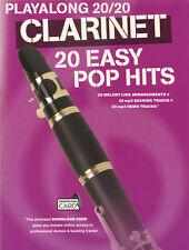 Playalong 20/20 Clarinet 20 Easy Pop Hits aktuelle Pop Songs Noten Klarinette
