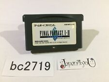 bc2719 Final Fantasy I II 1 2 Advance GameBoy Advance Japan J4U