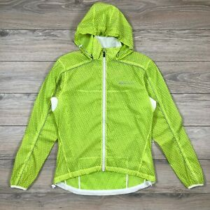Sugoi Hydrolite Jacket Men's Cycling Running Water Resistant Green Transparent