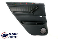 BMW X5 Series E53 Black Leather Walknappa Rear Left N/S Door Card Trim Panel