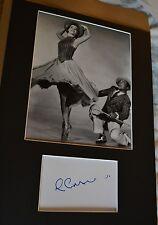 "LESLIE CARON  AUTOGRAPH SIGNED  CARD ( 10"" X 8"" PHOTO )  COA 55"
