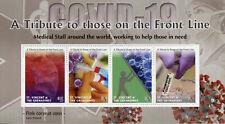 More details for st vincent & grenadines medical stamps 2020 mnh corona tribute front line 4v m/s