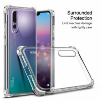 For Huawei P20/P30 Pro Lite Nova 3E 4 Shockproof Silicone TPU Clear Case Cover