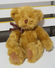 RUSS BERRIE AIDEN TEDDY BEAR PLUSH TOY! SOFT TOY ABOUT 18CM SEATED! KIDS TOY!