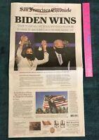 HARRIS BIDEN ELECTION CHRONICLE FULL NEWSPAPER 11/8/2020 COMPLETE SUNDAY PAPER