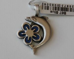 BICO Australia's Aloha (B67) silver plated pendant with blue accent