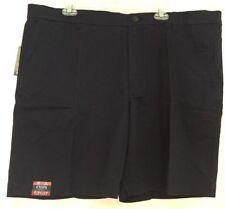 Chaps Mens Flat Front Shorts - Deep Ocean Blue – Size 42