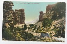 UT Postcard Railroad RR Castle Gate D&RG Denver Rio Grande Railway Edw. Mitchell