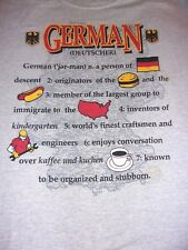 Germany,German Deutscher,Explanation about some German Traditions.Xl T-Shirt