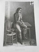 Gravure 19ème - Portrait de Barnave
