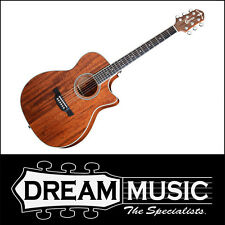 Crafter TE 6 MH/BR - Orchestral Solid Mahogany Acoustic/Electric Guitar RRP$899