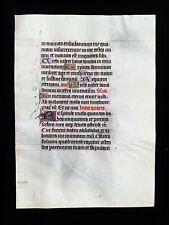 1430 Original Medieval Manuscript on Vellum, ultra-rare Latin Book of Hours Leaf