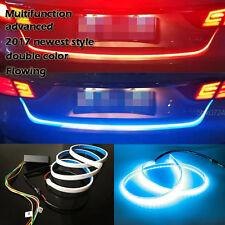 DC12V Ice Blue+Red LED Flow Type Flowing Light Car Vehicles Tail Gate Brake Lamp
