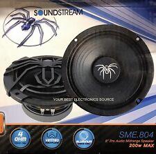 "NEW SOUNDSTREAM SME804 8"" 4 Ohm Pro Series Midrange Speaker (1-Speaker)"