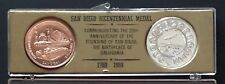 San Diego Bicentennial Medals Set 1969 Birthplace of California Lot of 2 Medals
