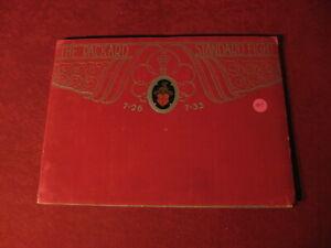 1929 Packard Large Portfolio Sales Brochure Booklet Catalog Book Old Original