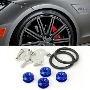 Blue Bolt on Fast Quick Release Secure Kit For Toyota Front Rear Bumper Lip