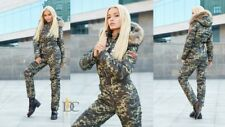 Camouflage Snowsuit Ski Suit Male Female Mens Womens Green White Overall Outwear