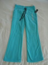 New w/ Tags OLD NAVY girls FLEECE pants Katie's Kayak aqua blue sz S/P 6-7