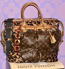 Louis Vuitton Sprouse Monogram STEAMER Leopard Pony Snakeskin LIMITED Travel Bag