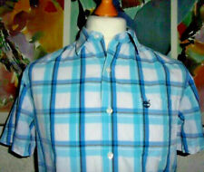 Timberland Earthkeepers Short sleeve shirt Small Blue check 100% cotton
