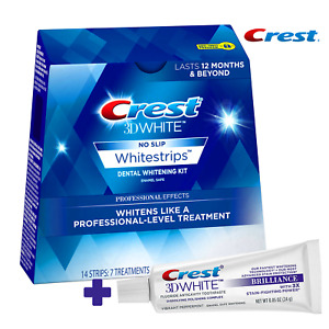 Crest 3D White Professional Whitestrips 14 Strips 7 Treatment + Crest TOOTHPASTE