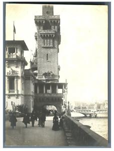France, Paris, Pavillon de Monaco  Vintage silver print. Exposition Universelle