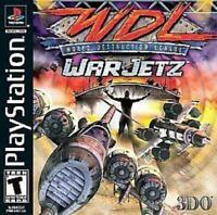WDL World Destruction League War Jetz Playstation 1 Game PS1 Used Complete