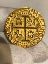 (1) PERU LIMA 8 ESCUDOS 1710 24kt. PLATED GOLD DOUBLOON 1715 FLEET TREASURE COIN