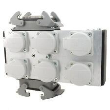 Mpl ulpb 62h Alu Powerbox 6 con 2x 16pol Harting en 6 schukodosen/multicore