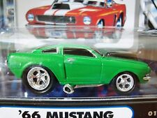 MUSCLE MACHINES (1966) '66 FORD MUSTANG  - (GREEN) - 1/64 DIECAST