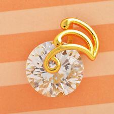 Colgante circonitas con oro amarillo 18KGF mas cadena envio gratis.