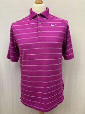 Mens | Nike Golf Dri-Fit Striped Polo Shirt | Purple | Size S