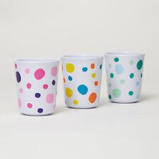 Barel Everyday Assorted Polka Dot Melamine Beakers 200mL (Set of 3)