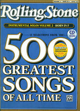 ROLLING STONE 500 GREATEST SONGS INSTRUMENTAL PLAY-ALONG HORN IN F MUSIC BOOK/CD