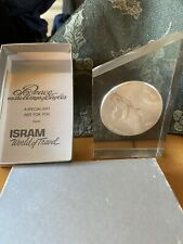 Silver Award Token Peace on Wing of Eagle Isram World Travel Paperweight Gift