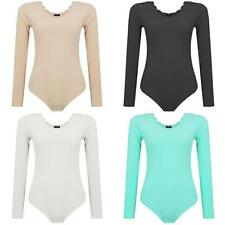 Crew Neck Fitted Body Regular Size Tops & Shirts for Women