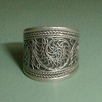 Alt & Wunderschön!! Silber RING TIBET FILIGRAN