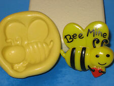 Bee Silicone Push Mold Cake Favor Party Chocolate Resin Clay Soap A424 Valentine