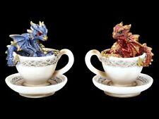Drachen in Tasse Figur - Dracuccino Set - Fantasy Drachenjunges Tischdeko