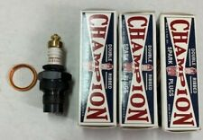 New Model A Ford Spark Plugs  3X Type Champion Brand  Set of 4  1928-34 4 cyl