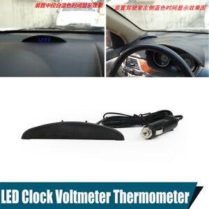 Four Display Modes Car Time Temperature Voltage Blue LED Digital Display Gauge