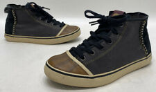 Sorel Sentry Chukka Womens Black/Grey Canvas High Top Sneaker Duck Boots Size 8