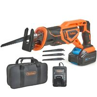 VonHaus 20V Cordless Reciprocating Saw with Battery, Charger & 4x Wood Blades