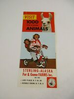 Vintage Sterling Alaska Fur & Game Farms New York Travel Brochure & Map~Box P1