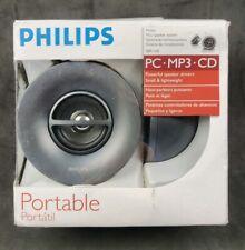 Philips Mini Speaker System Portable PC.MP3.CD Good Sound