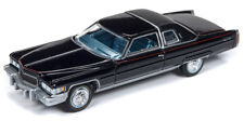 Auto World Cadillac Coupe DeVille 1976 Black with Black Roof 64192 1/64